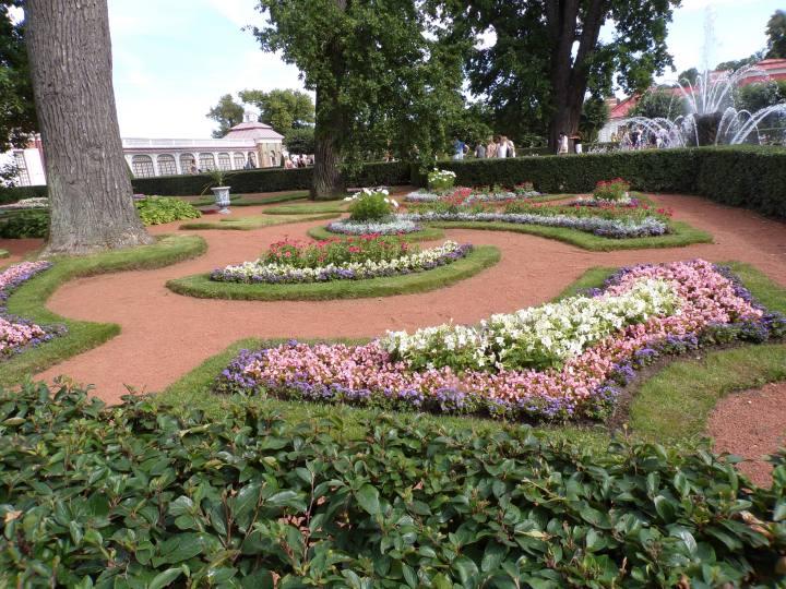 Gardens in front of