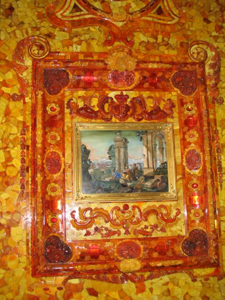 amber room - picture frame