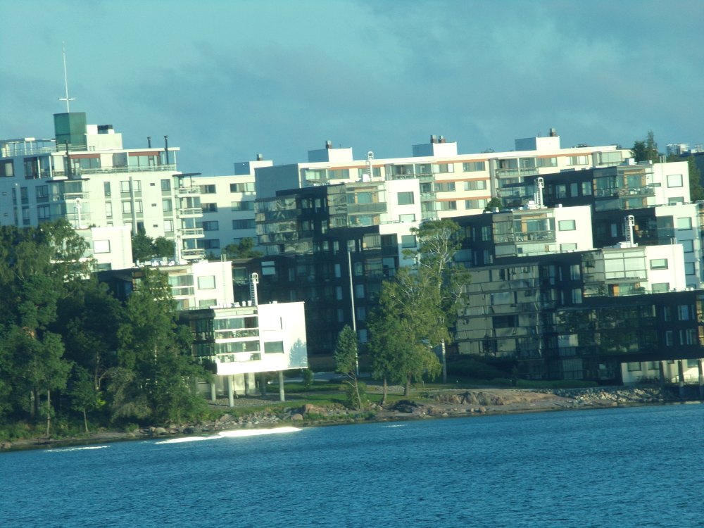 Modern apartment buildings in Helsinki