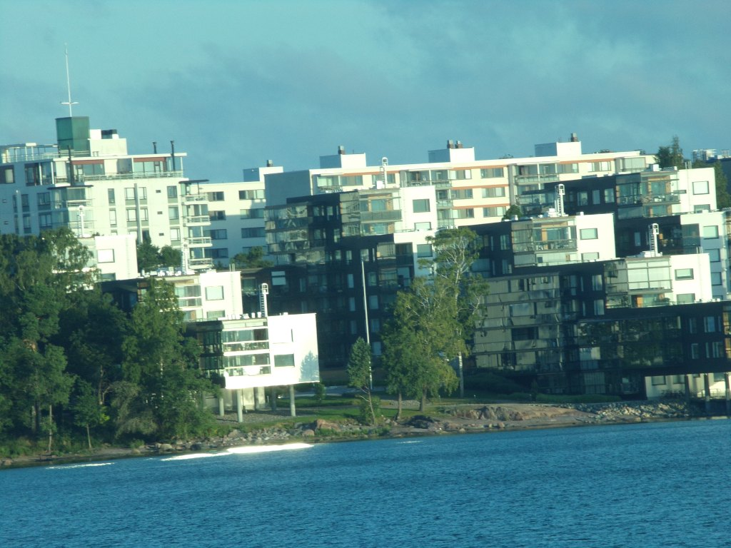 Modern apartment buildings in Helsinki