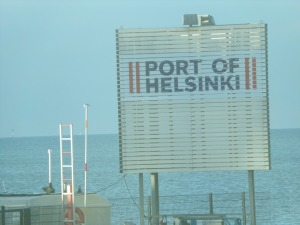 Port of Helsinki sign