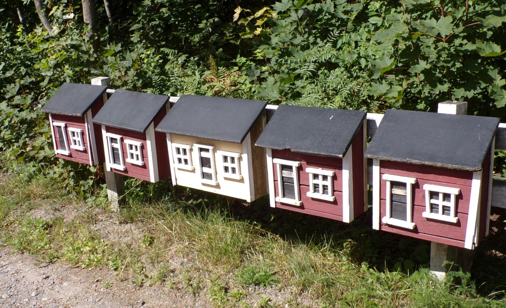 Each family has their own mailbox.
