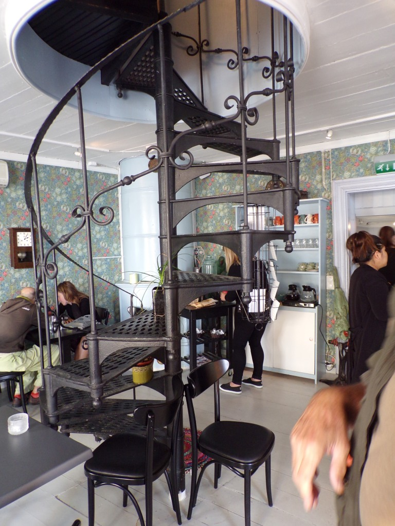 Spiral staircase in Brunberg's chocolate shop