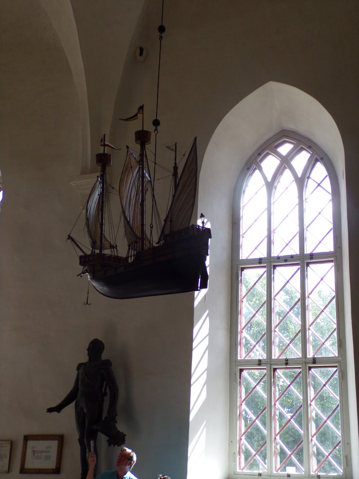 Every church we've visited in the Baltic area has a ship representing the importance of their maritime economies, and to offer prayers for sailors past and present.