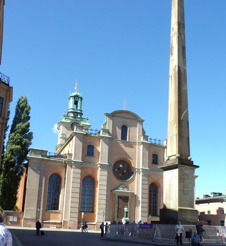 Stockholm Cathedral and monument to  Gustav IV Adolph (King of Sweden 1782-1809)