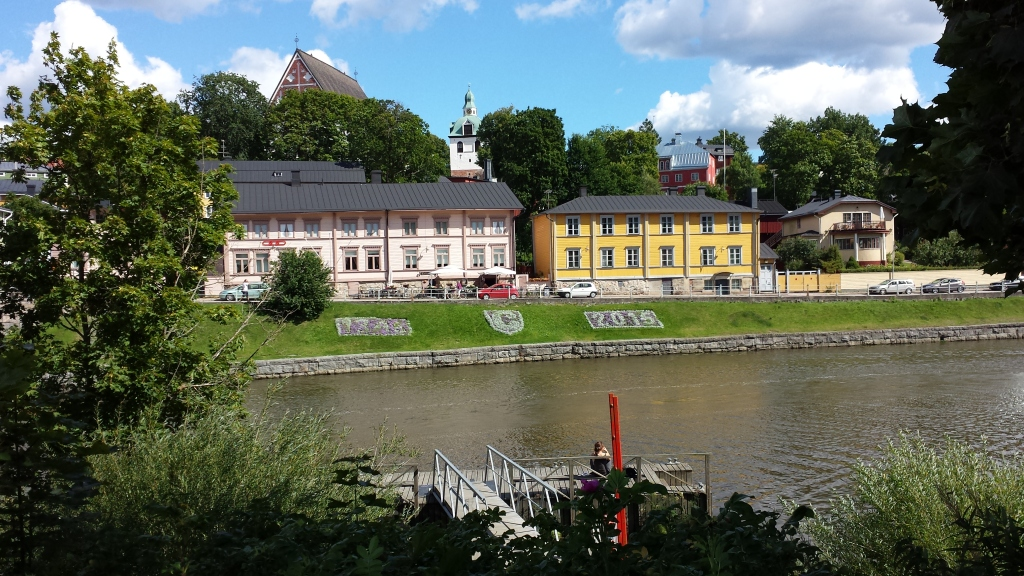 Our first glimpse of Porvoo from across the river