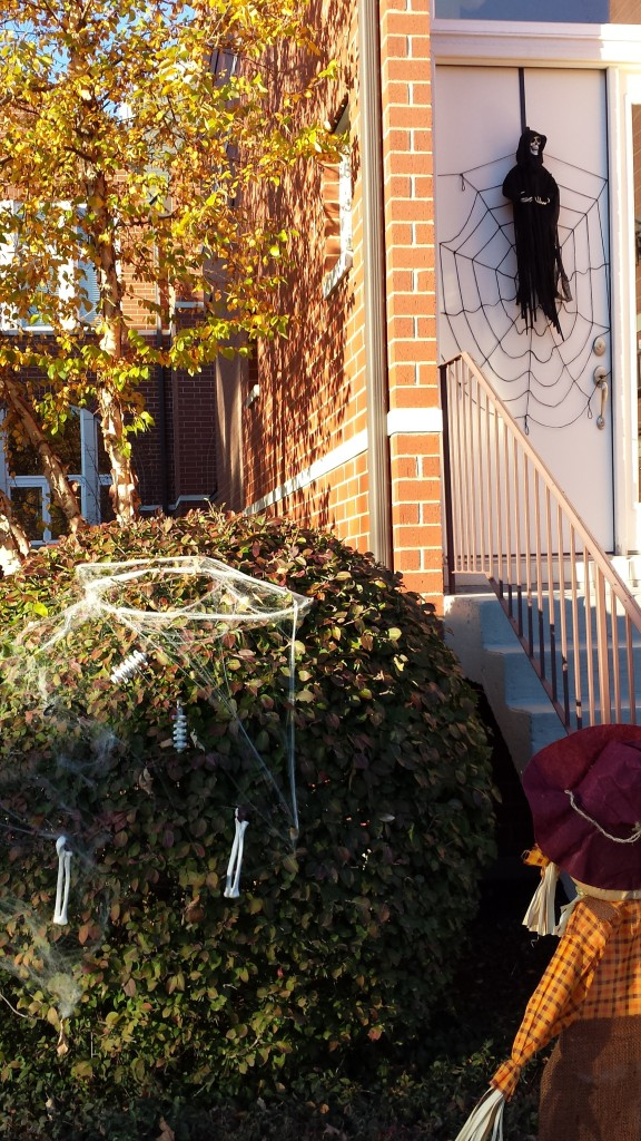 This is one of the more interesting Halloween displays in the neighborhood.