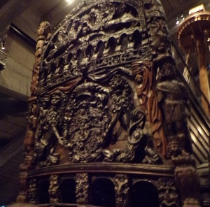Decoration on the back of the ship Vasa (without the color)