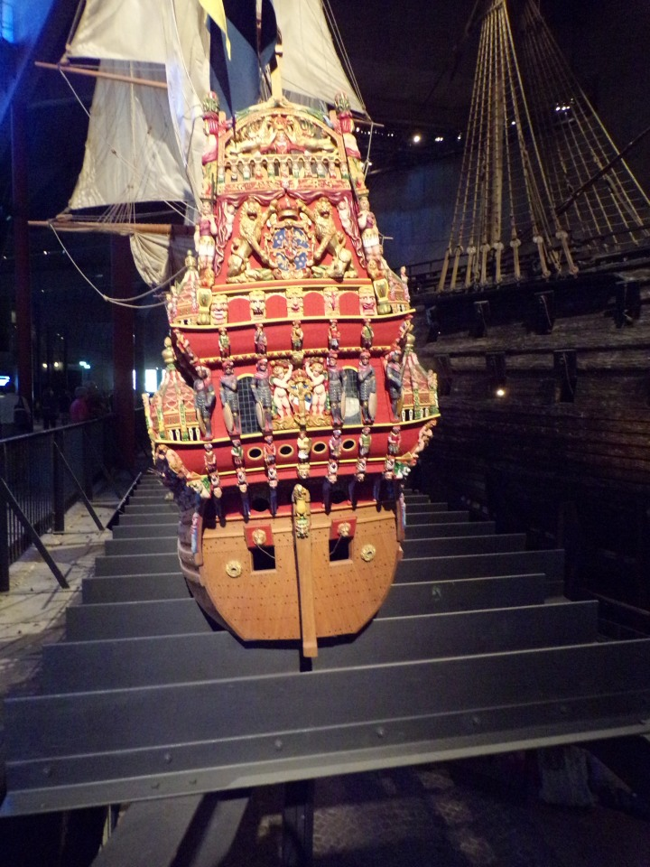 Replica of the colorful decoration on the back of the ship