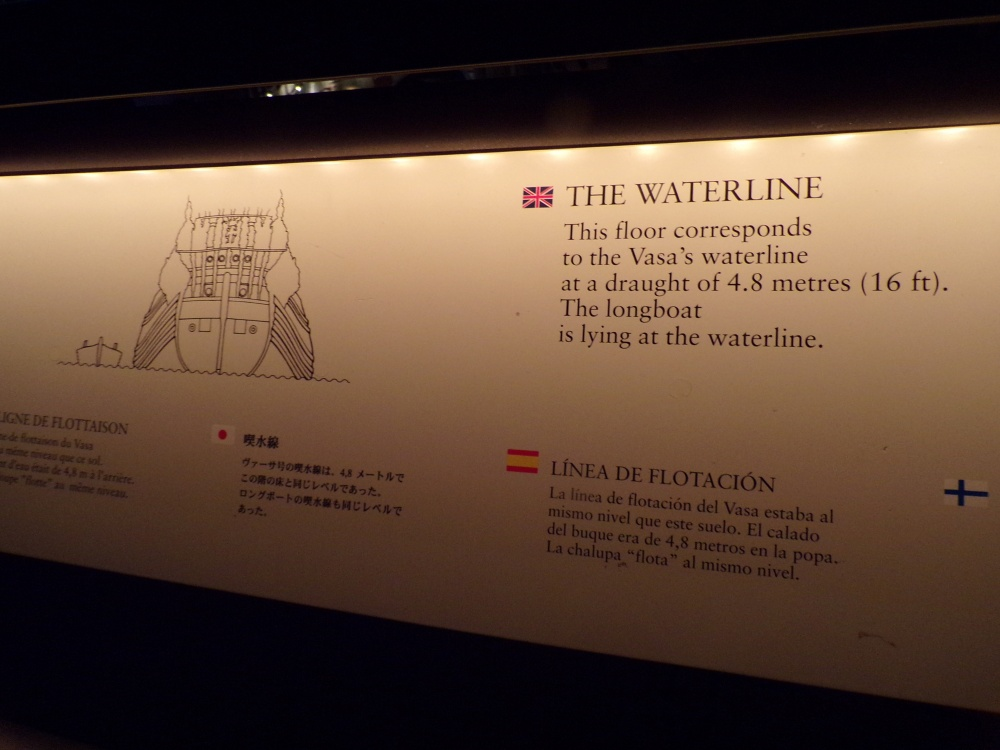 This diagram shows how high the ship sat in the water.