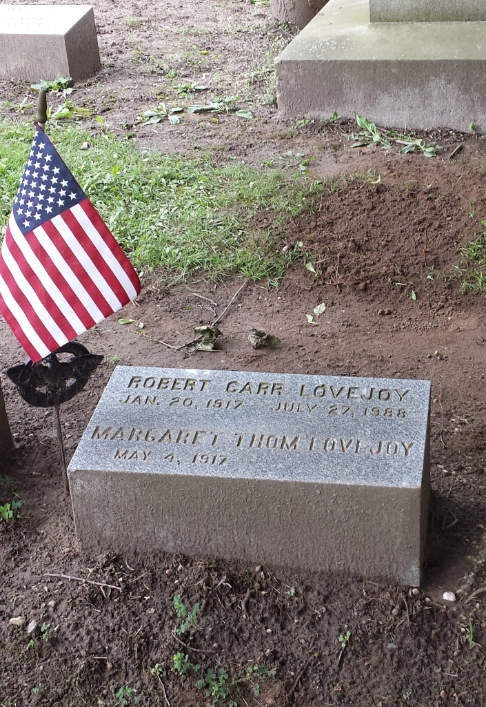 Dad's grave is decorated with a flag for his military srvice.
