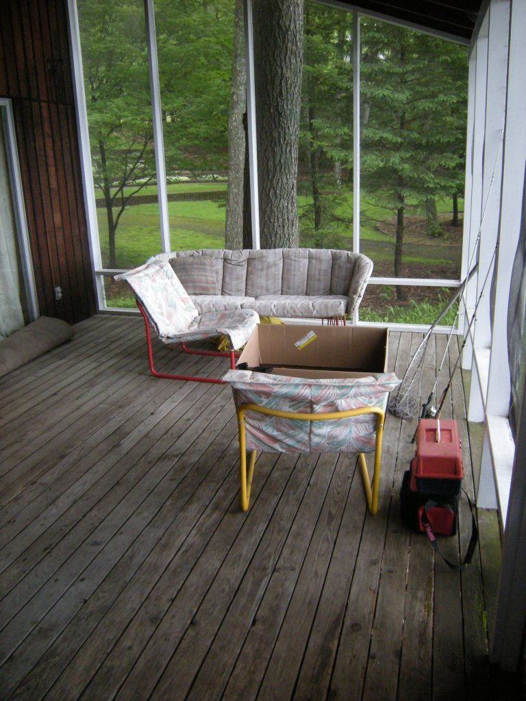 Emptying the porch