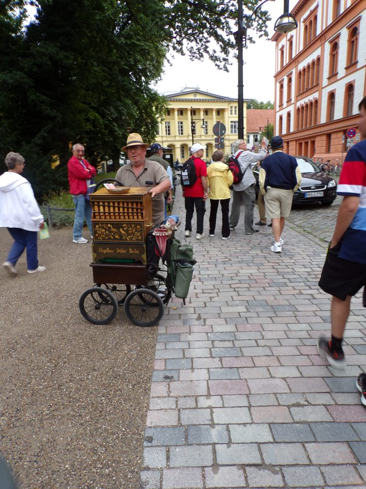 Old fashioned organ grinder, Drehorgel Jorg Perleberg - he gave me his card!