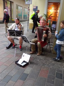 More street musicians, a common sight in European cities