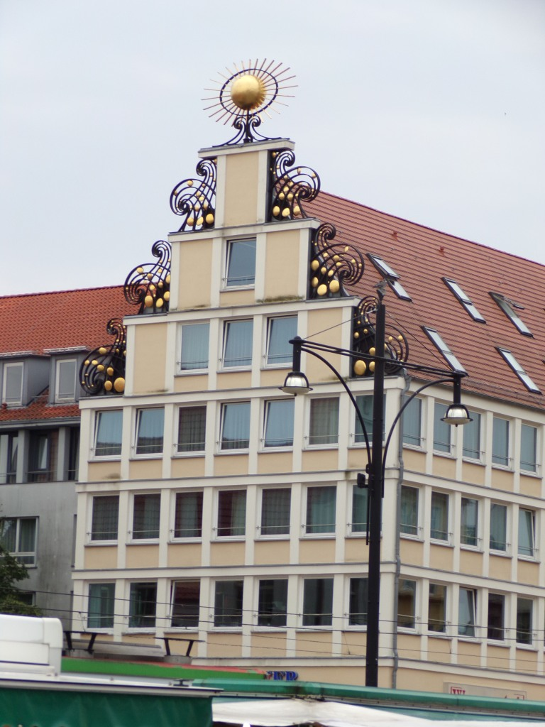 A hotel on one corner of New Market Square