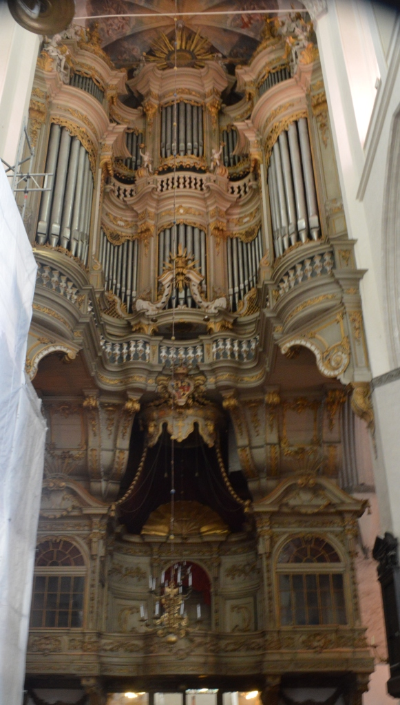 Beautiful organ at St. Mary's Church in Rostock