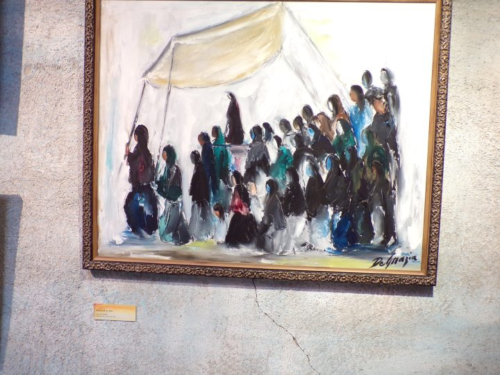 """""""Mary Looks for Jesus"""" (oil on canvas) Yaqui Easter collection"""