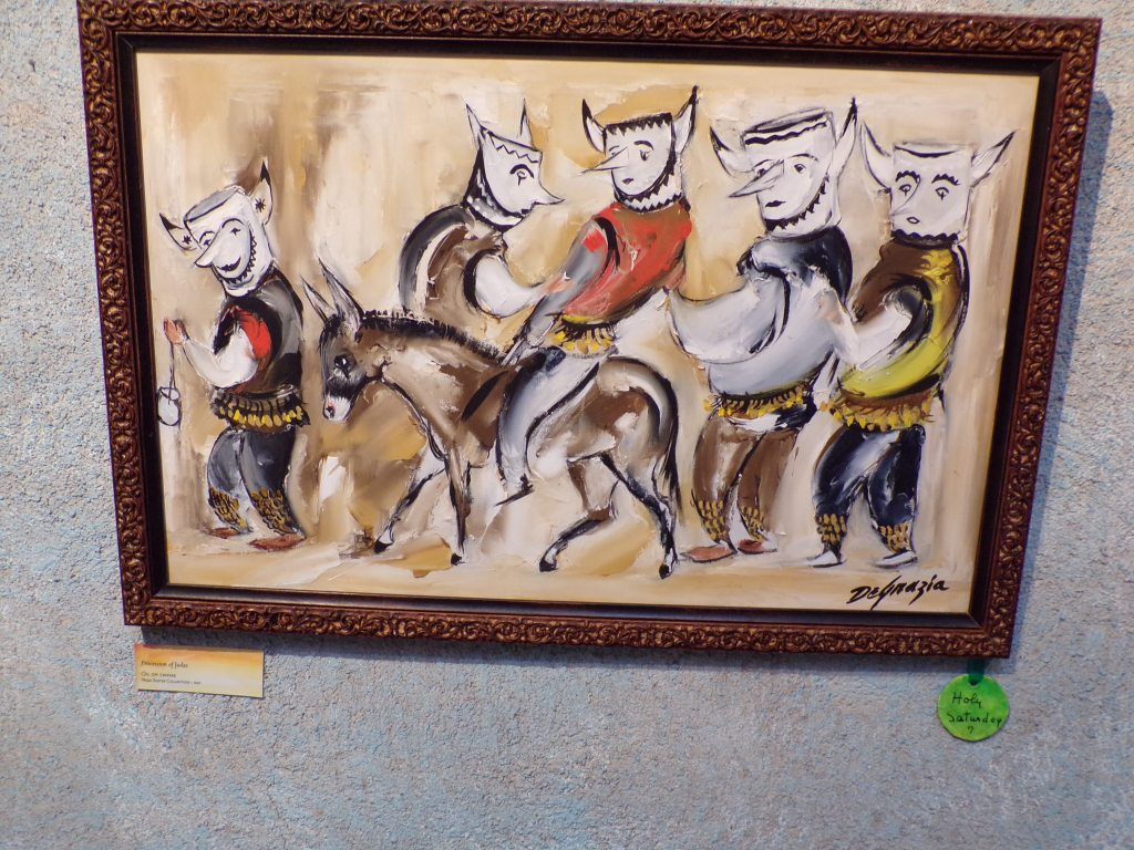 Procession of Judas (Oil on canvas) Yaqui Easter Collection - 1967