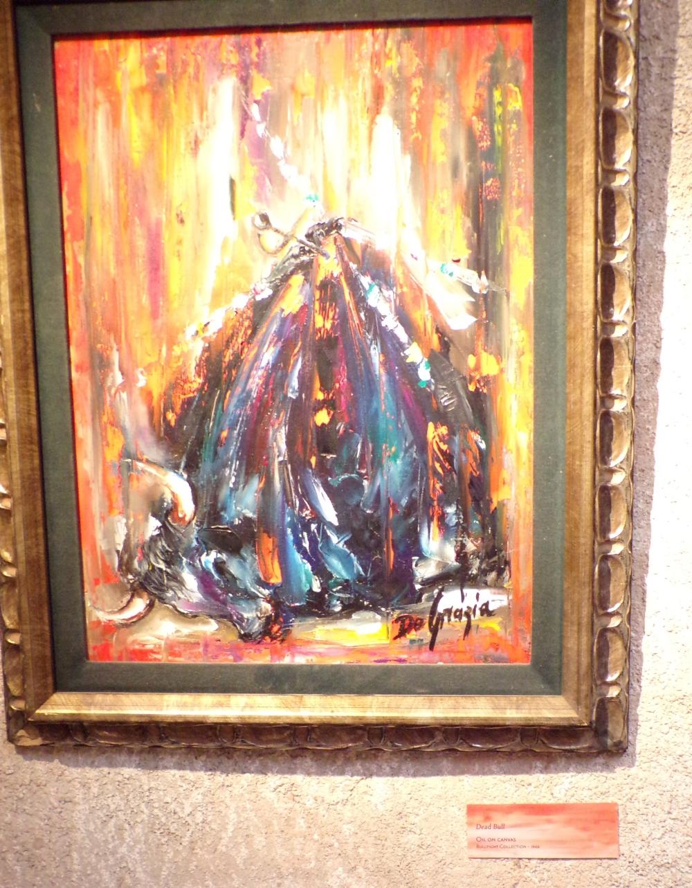 Dead Bull (Oil on canvas - Bullfight Collection - 1966)