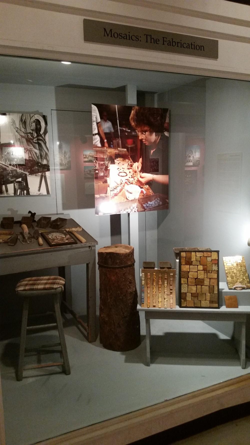 Mosaic artist's workshop