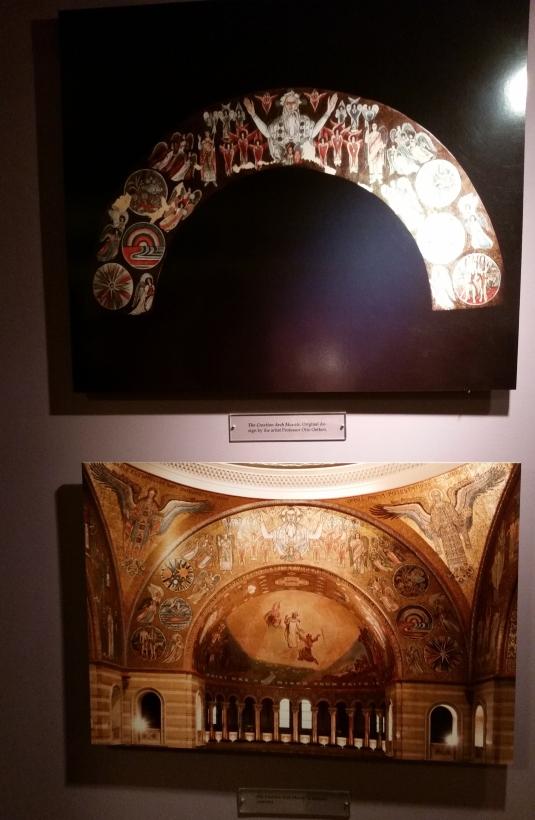 The Creation Arch Mosaic, original design by the artist Prof. Otto Oetken.