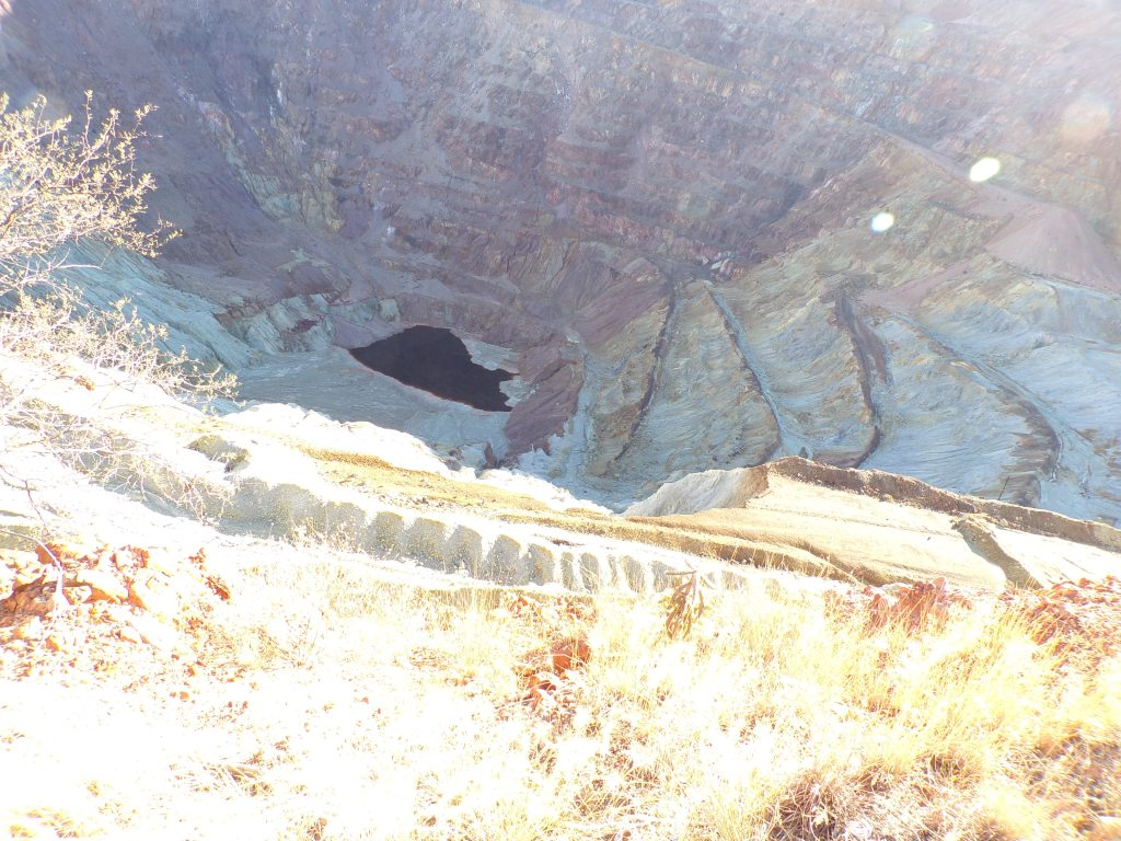 Copper mine pit