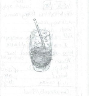 Doodle of a half-slurped smoothie