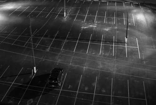 Is the last car in the parking lot yours?