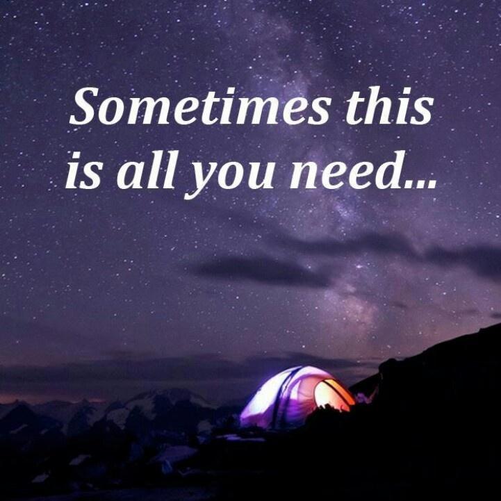 night in tent