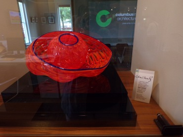 Limited edition Chihuly glass artwork for sale! I didn't inquire about the price; I just liked the piece.