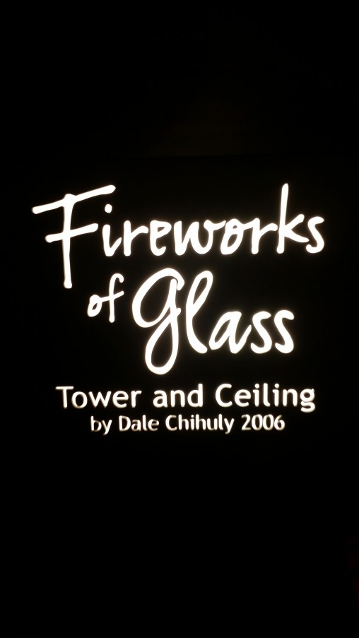 """""""Fireworks of Glass"""" Tower and Ceiling by Dale Chihuly 2006"""