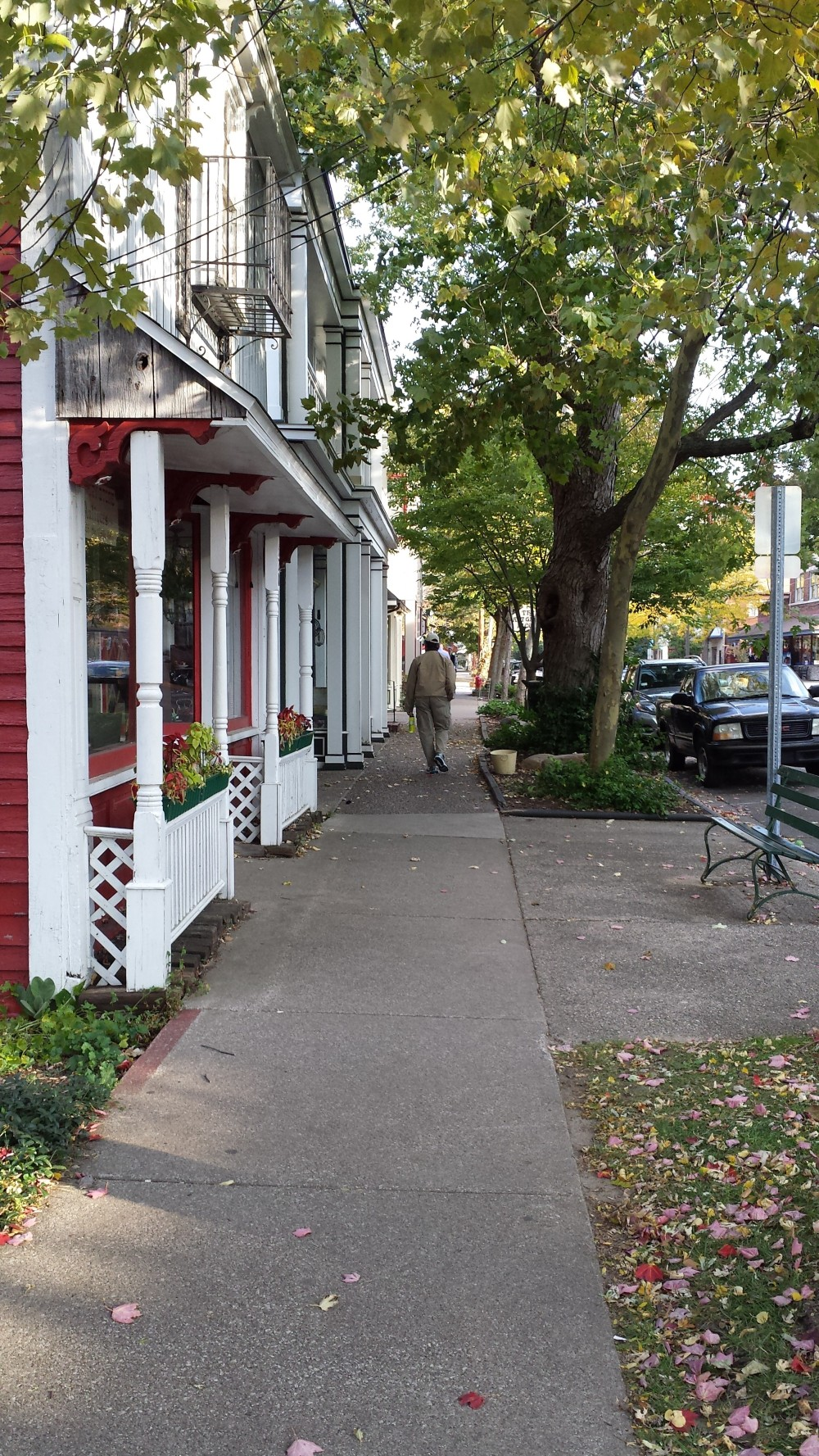 Main street (probably Butler St.) in Saugatuck