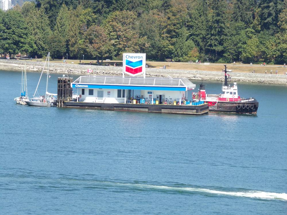 Gas station on the water (for boats and possibly float planes)