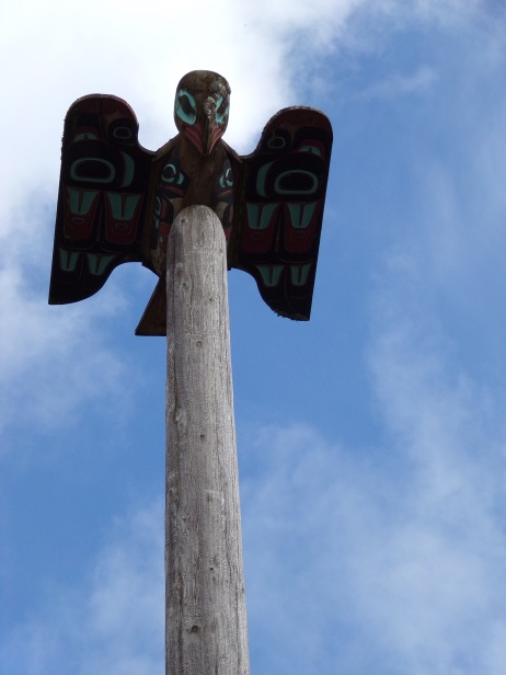 Top of Chief Johnson totem pole