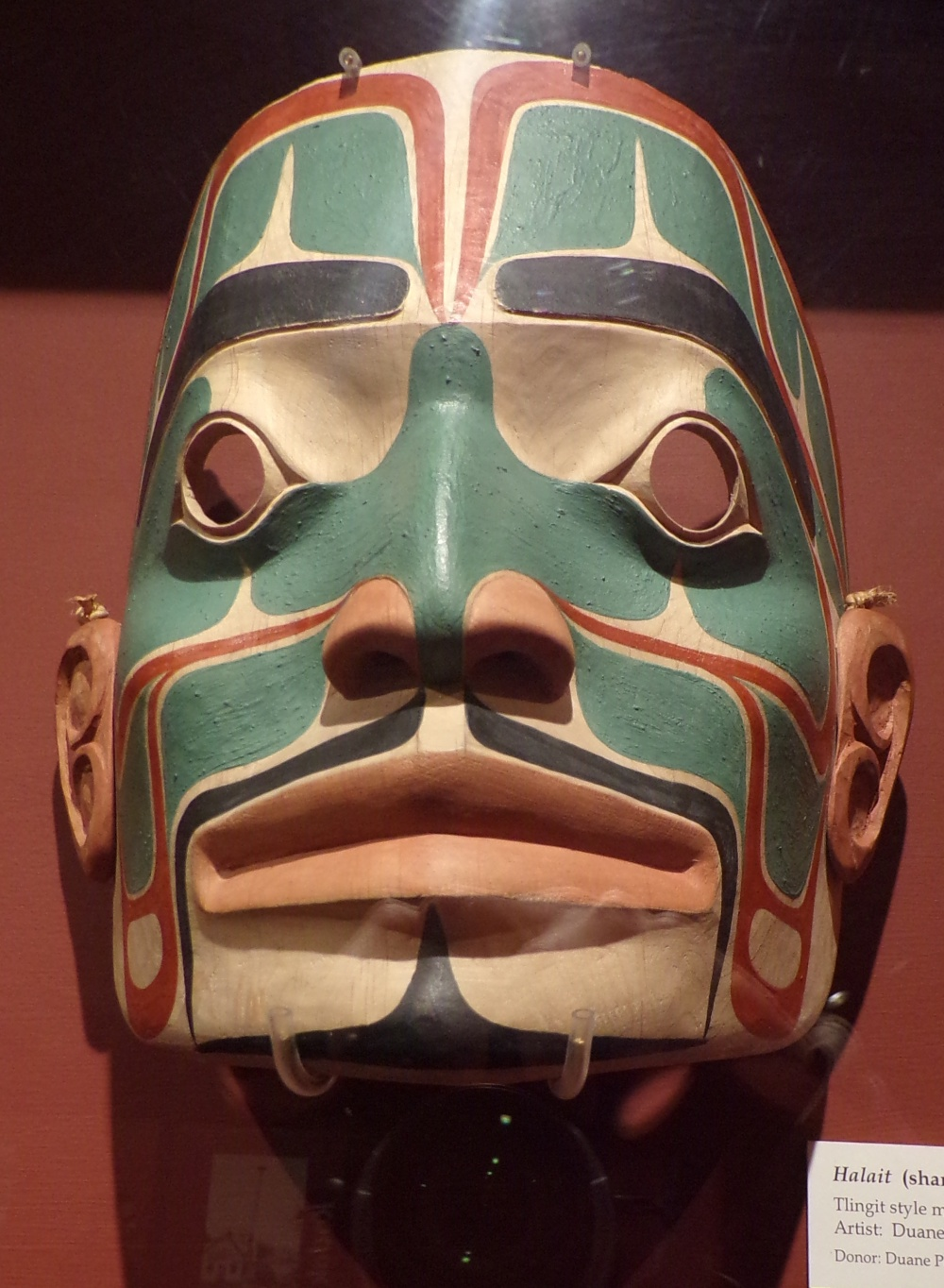 Halait (shaman) - Tlingit style mask, 1979; artist: Duane Pasco