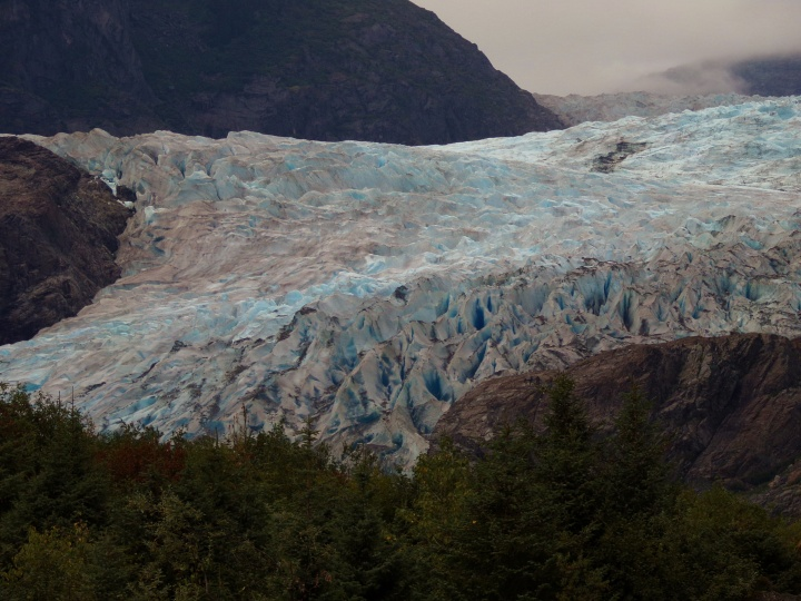Close up of Mendenhall Glacier