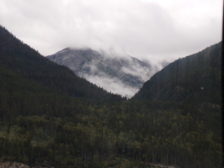 Morning fog drifts through the mountains near Skagway/Haines