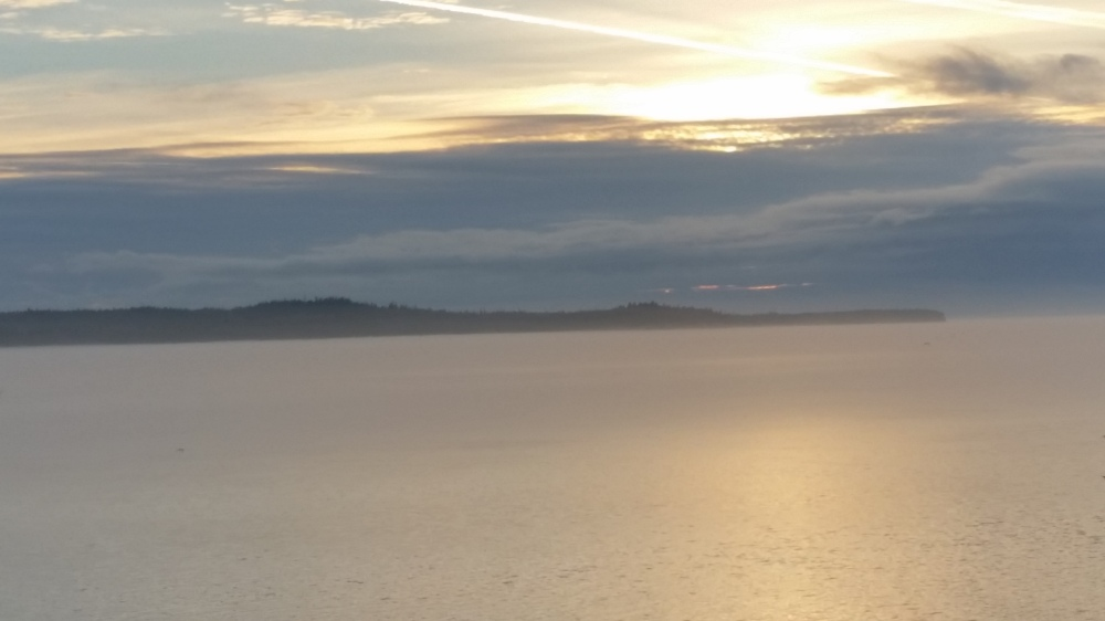 Sunset (north of Ketchikan) taken from our veranda on the ship