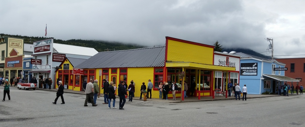 Colorful downtown Skagway