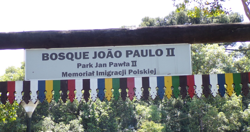 Sign at entrance to park.
