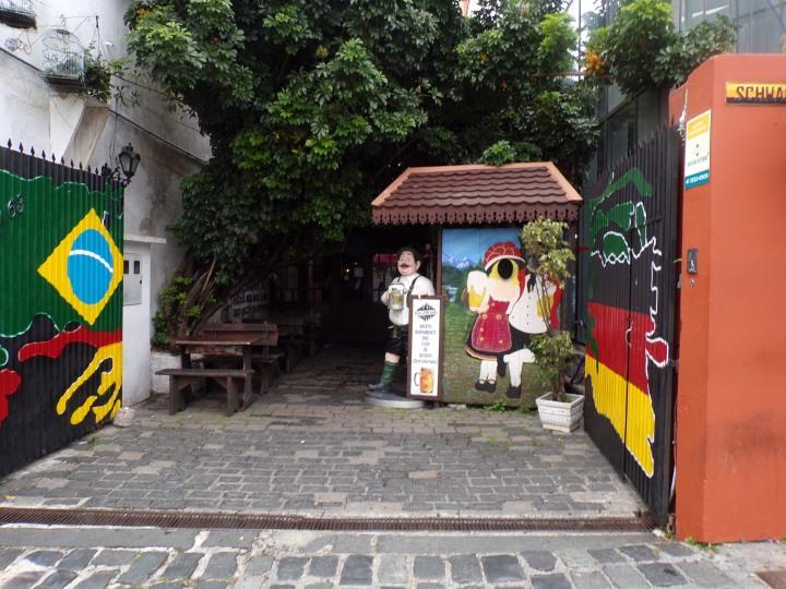 Entrance to German restaurant next door.