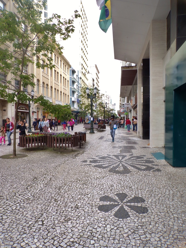 Rua das Flores, pedestrian street in downtown Curitiba