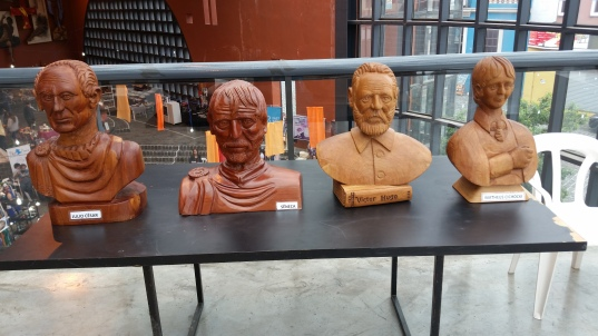 Busts of famous people