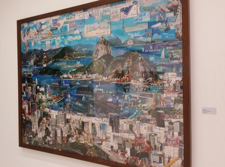 Rio de Janeiro, collage using postcards, stamps, etc.