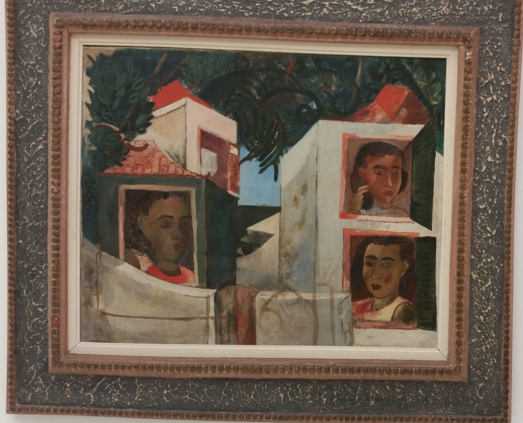 Cicero Dias, Mocas na janela (Girls at the window), Dec. 1930; oil on canvas