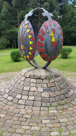Egg metal sculpture