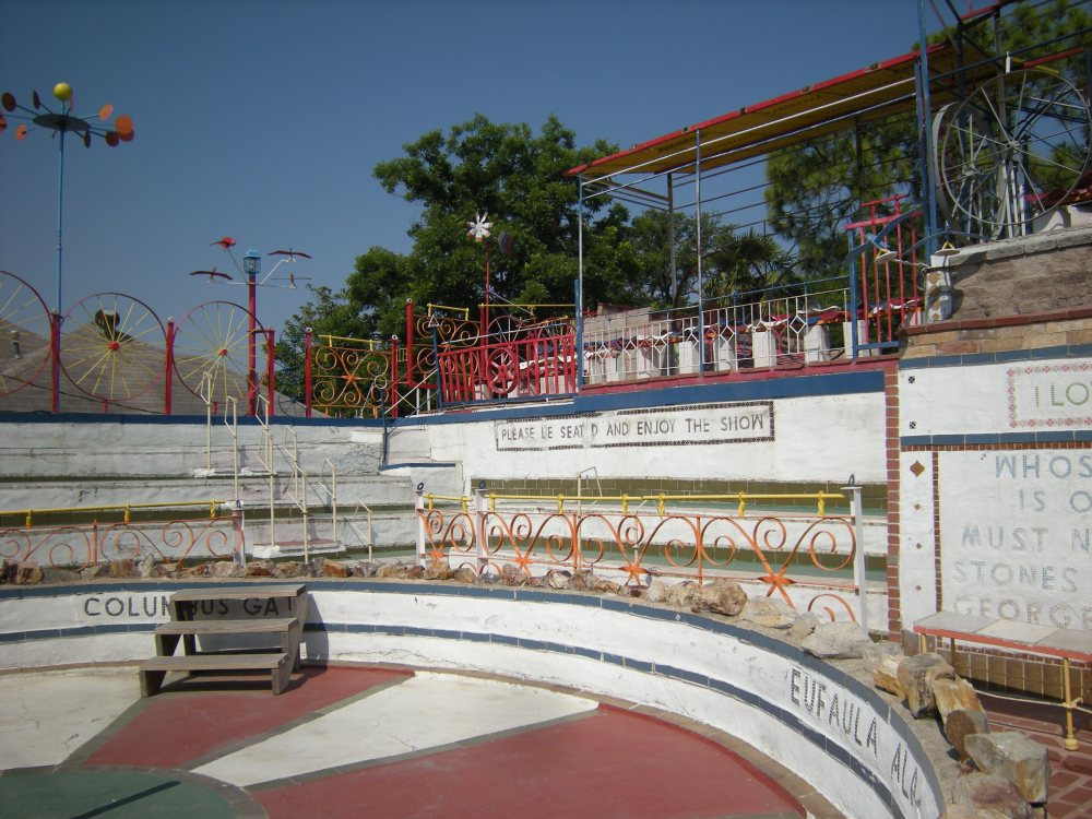 The main stage - there are bleachers and above, individual seats.