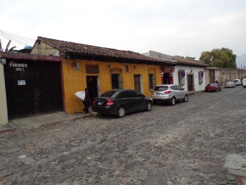 Typical cobblestone street-Antigua