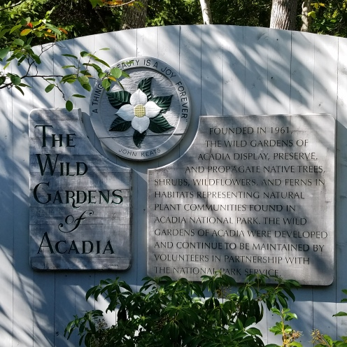 Sign for The Wild Gardens of Acadia
