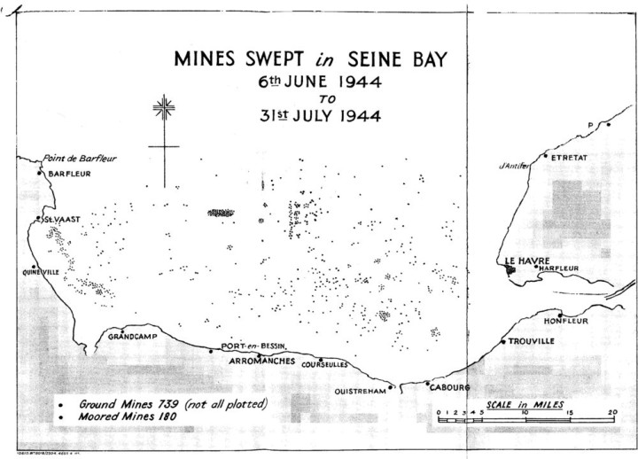 D-day mines swept